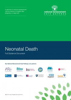 Neonatal Death Bereavement Care Pathway cover