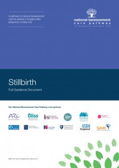 Stillbirth Bereavement Care Pathway cover