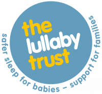 A logo for Lullaby Trust