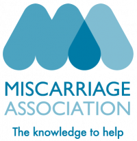 A logo for the Miscarriage Association